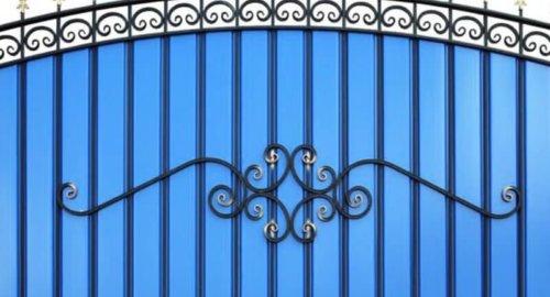Забор секционный с ковкой 1