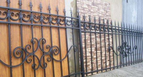 Забор секционный с ковкой 2