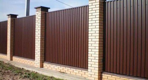 Забор из профнастила 3
