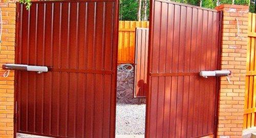 Ворота распашные 2