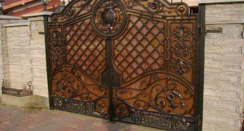 Ворота кованые 3