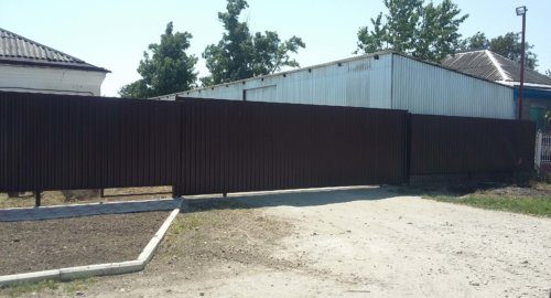 Забор и откатные ворота